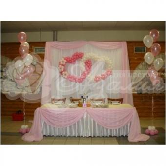 Оформление шарами на свадьбу «Комплект № 7»