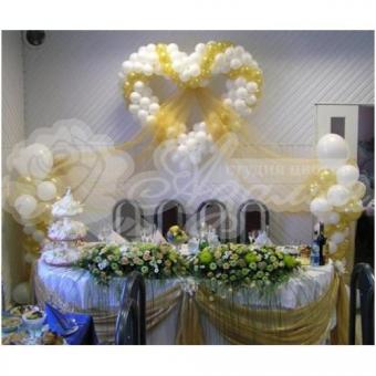 Оформление шарами на свадьбу «Комплект № 10»
