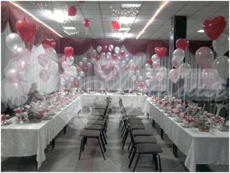 Оформление шарами на свадьбу «Комплект № 13»